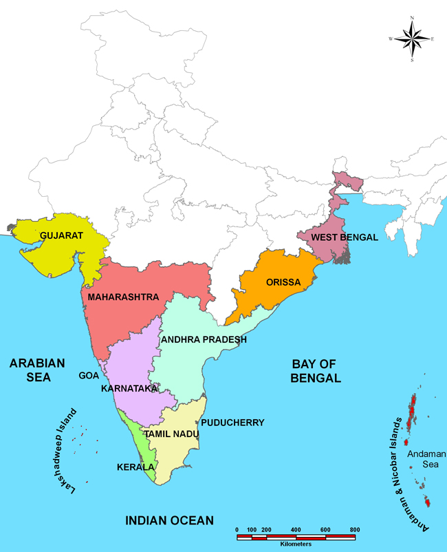 State Coastal Information of India